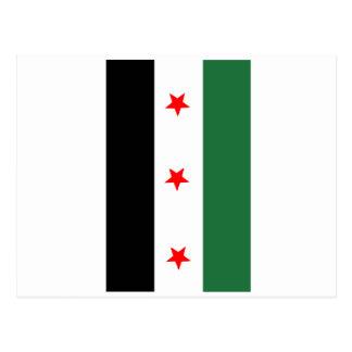 Bandera revolucionaria siria tarjeta postal