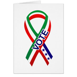 Bandera Ribbon1 de México Tarjeton