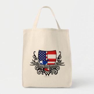 Bandera Rican-Americana del escudo de Puerto Bolsas