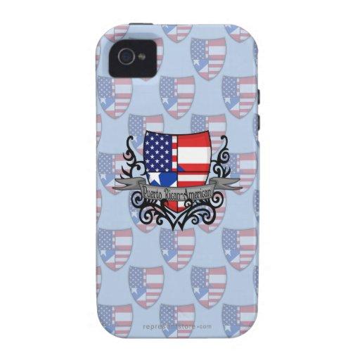 Bandera Rican-Americana del escudo de Puerto iPhone 4/4S Carcasas