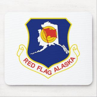 Bandera roja Alaska Alfombrilla De Ratón