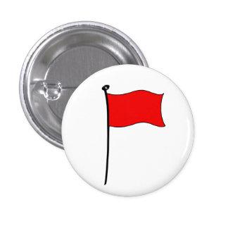Bandera roja: botones pins