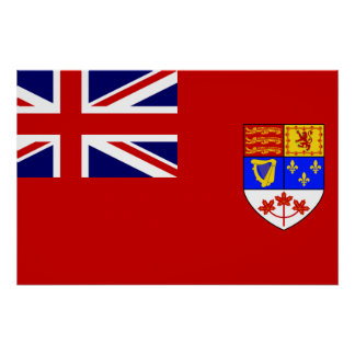 Bandera roja canadiense de la bandera posters