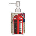 bandera roja de británicos de la moda de la cabina set de baño