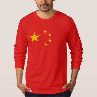 Bandera roja de cinco estrellas china playera