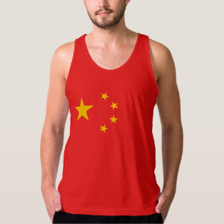 Bandera roja de cinco estrellas china playera de tirantes
