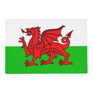 Bandera roja de País de Gales del dragón Galés Tapete Individual