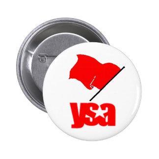 Bandera roja de YSA Pin