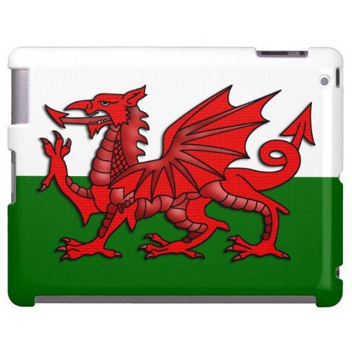 Bandera roja del dragón del _de País de Gales Funda Para iPad