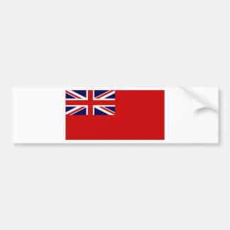 Bandera roja del plumero de la bandera civil de Re Etiqueta De Parachoque