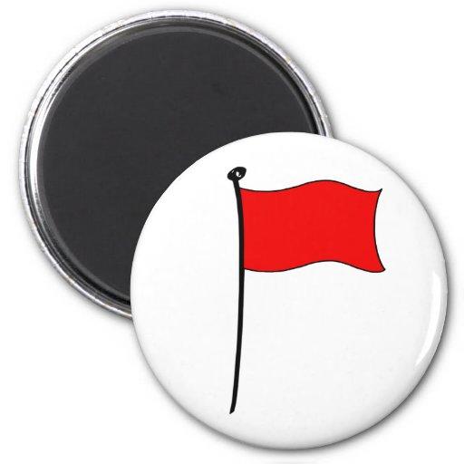 Bandera roja: imanes imán para frigorífico