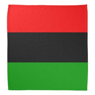 Bandera roja, negra, verde del africano de la bandanas