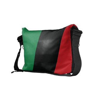 Bandera roja, negra y verde bolsas de mensajeria