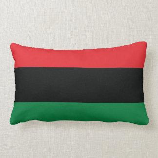 Bandera roja, negra y verde cojín