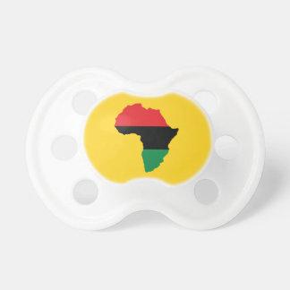 Bandera roja, negra y verde de África Chupetes