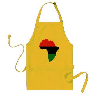 Bandera roja, negra y verde de África Delantal
