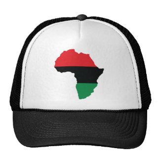 Bandera roja, negra y verde de África Gorros
