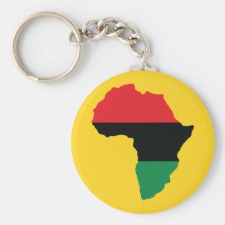 Bandera roja, negra y verde de África Llavero Redondo Tipo Pin