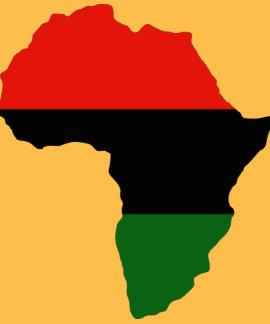 Bandera roja, negra y verde de África Playeras