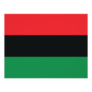 """Bandera roja, negra y verde folleto 8.5"""" x 11"""""""