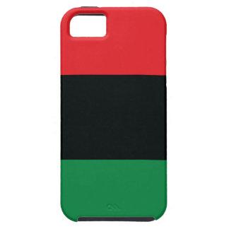 Bandera roja, negra y verde iPhone 5 Case-Mate cárcasas