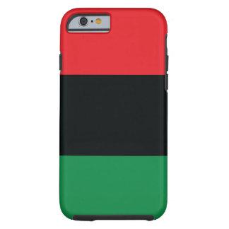 Bandera roja, negra y verde funda para iPhone 6 tough
