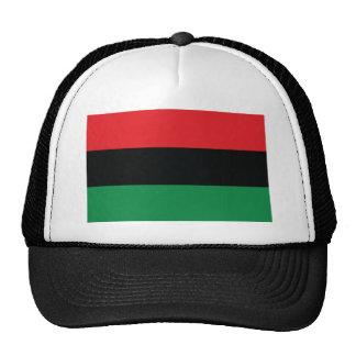 Bandera roja, negra y verde gorra