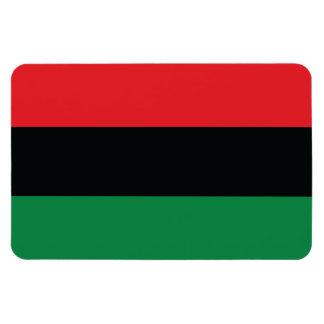 Bandera roja, negra y verde imán foto rectangular