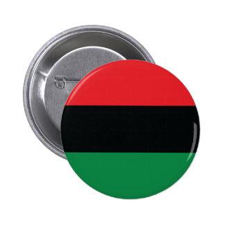 Bandera roja, negra y verde pin redondo de 2 pulgadas