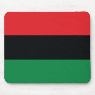 Bandera roja, negra y verde tapete de ratón