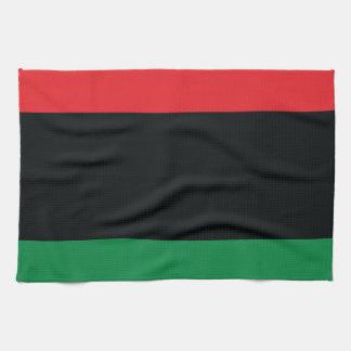 Bandera roja, negra y verde toalla