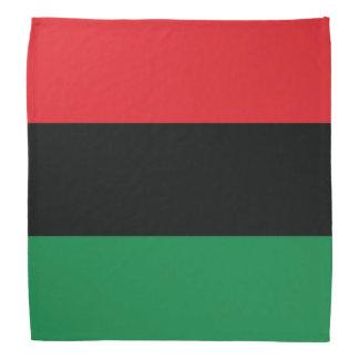 Bandera roja, negra y verde bandana