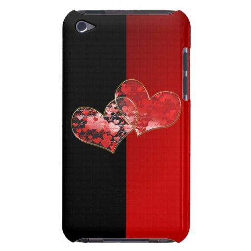Bandera roja y negra del amor iPod touch fundas