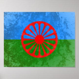 Bandera Romani Póster