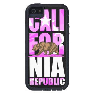 Bandera rosada linda de la república de California iPhone 5 Cárcasas