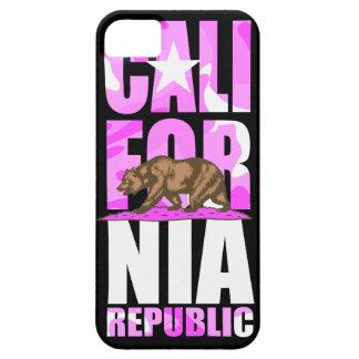 Bandera rosada linda de la república de California iPhone 5 Case-Mate Carcasa