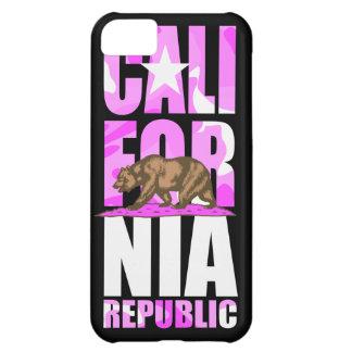 Bandera rosada linda de la república de California