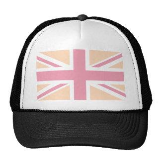 bandera rosada suave de Union Jack Británicos (Rei Gorra