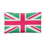 Bandera rosada y verde de Union Jack