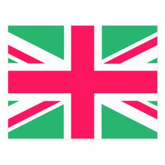 Bandera rosada y verde de Union Jack Postal
