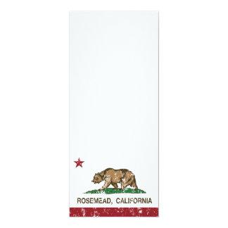 """Bandera Rosemead del Stat de California Invitación 4"""" X 9.25"""""""