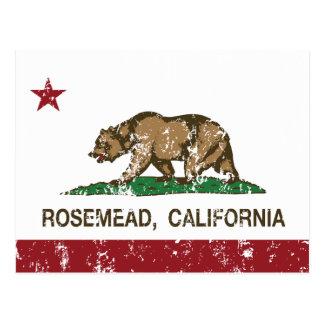 Bandera Rosemead del Stat de California Tarjetas Postales