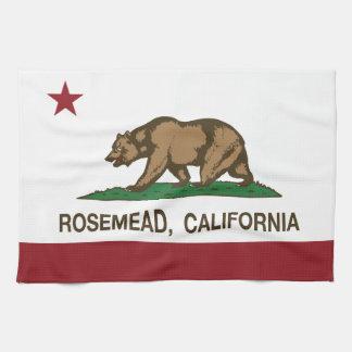 Bandera Rosemead del Stat de California Toalla De Cocina
