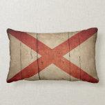 Bandera rugosa de Alabama Almohadas