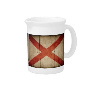 Bandera rugosa de Alabama Jarras Para Bebida
