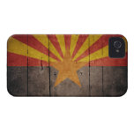 Bandera rugosa de Arizona iPhone 4 Case-Mate Coberturas