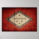 Bandera rugosa de Arkansas Posters