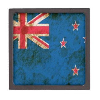 Bandera rugosa de Nueva Zelanda Caja De Regalo De Calidad