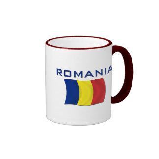 Bandera rumana (AZUL) Taza A Dos Colores