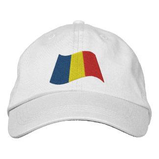 Bandera rumana gorra de beisbol bordada